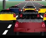 şehirde araba yarışı