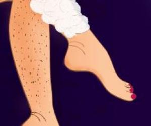 bacak kıllarını temizleme