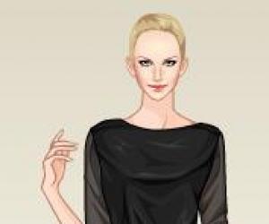 siyah beyaz elbise giydirme