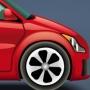 minik kırmızı araba