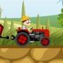 Çiftlikte Traktör Sürme